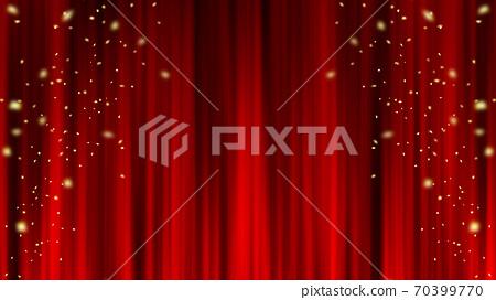 紅色窗簾材料懸垂窗簾紙暴風雪 70399770