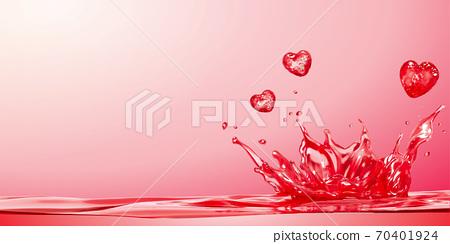 Pink water splashing background 70401924