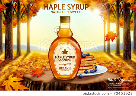 Canadian maple syrup ad 70401925