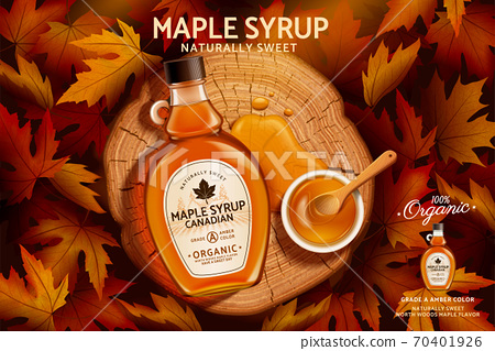 Canadian maple syrup ad 70401926