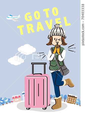 go to travel 캠페인의 겨울 이미지 일러스트 70403338