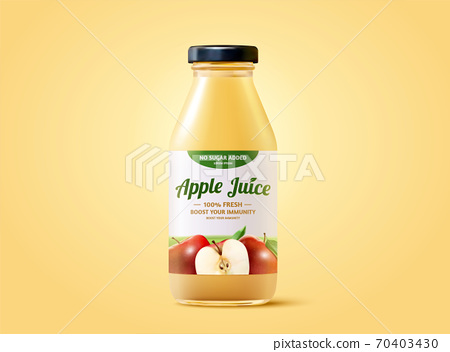Fresh apple juice bottle 70403430