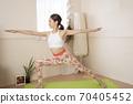 做瑜伽的女人 70405452
