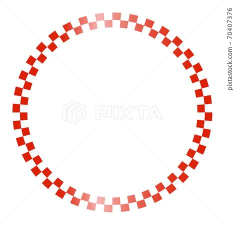 바둑판 (체커) 모양의 원형 프레임 70407376