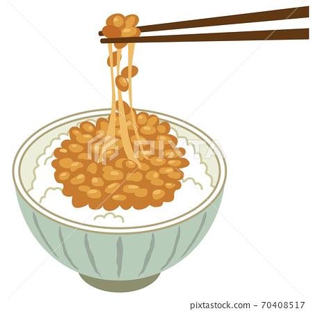 Natto rice natto 70408517