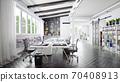 contemporary loft office 70408913