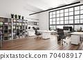 contemporary loft office 70408917