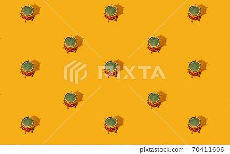 orange xmas background gold drum seamless pattern 70411606
