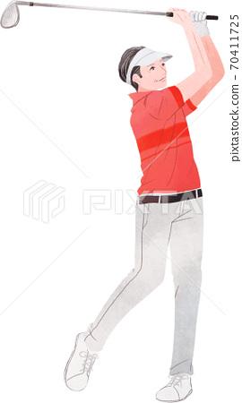 一個人打高爾夫球很好 70411725