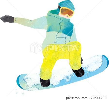 人單板滑雪前側抓斗 70411729