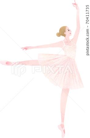 발레 춤 여자 70411735
