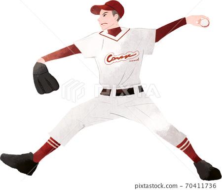 動態投擲棒球的時刻 70411736