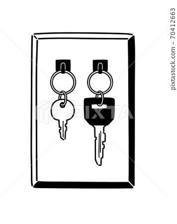 Wall-mounted key 70412663