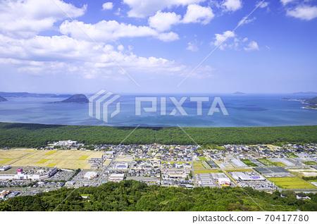 佐賀縣的絕妙景色:從神上山西天文台看到彩虹松原和唐津灣 70417780