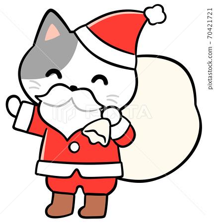 고양이 산타 70421721