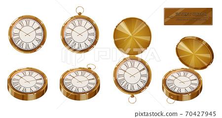 懷錶插圖素材set_antique_retro 70427945