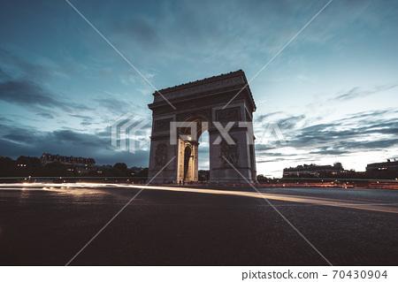Arc de Triumph at evening, Paris, France 70430904