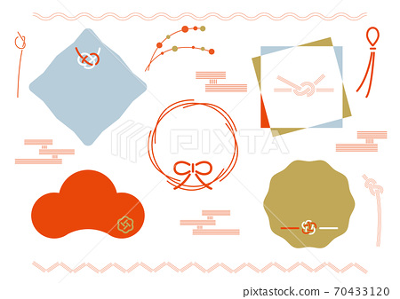 Japanese frame and design material set 70433120