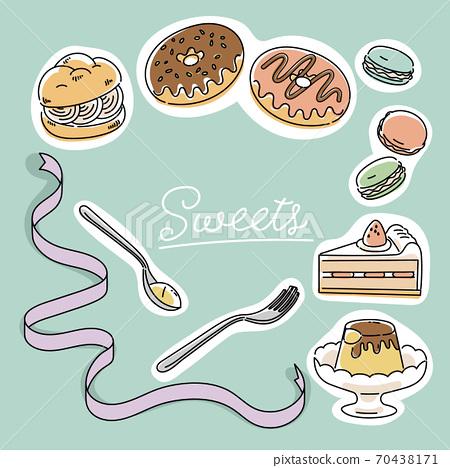 西式糖果的插圖 70438171