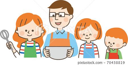 烹飪家庭 70438819