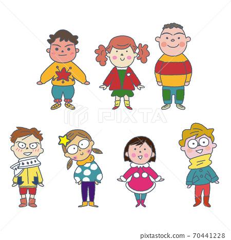크리스마스를 축하 어린이 일러스트 70441228