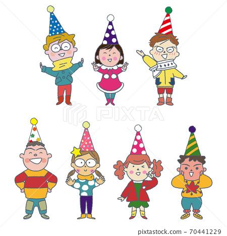 크리스마스를 축하 어린이 일러스트 70441229