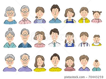 세 가족 _ 곤란 얼굴 70443259