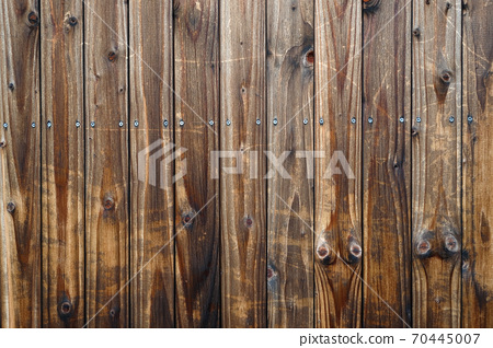 Wood wall made of old boards 70445007
