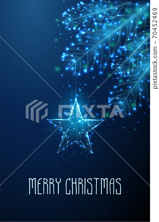 Happy new year and Merry Christmas greeting card. 70452469