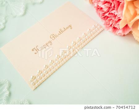 Birthday card carnation lace 70454712