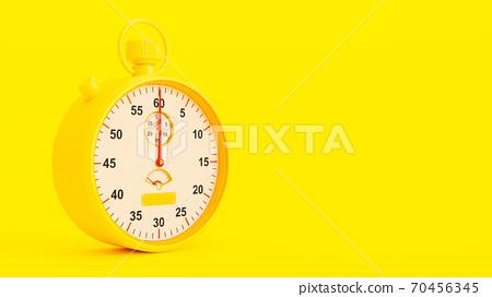Yellow Stopwatch. 70456345