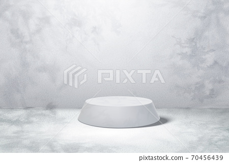 Round marble display stage 70456439