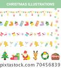 Annual event Christmas illustration set 70456839