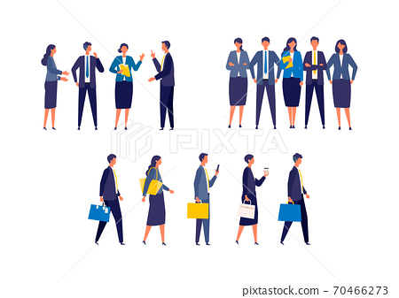 Various group illustrations of businessmen 70466273