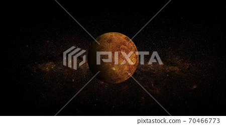 Venus on space background. Elements of this image furnished by NASA. 70466773