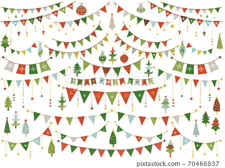 手寫☆聖誕花環和聖誕樹 70466837
