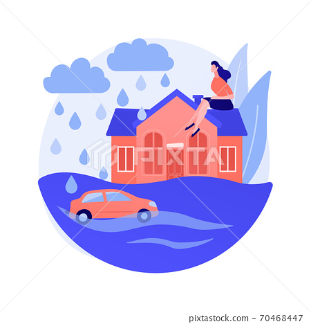 Flood abstract concept vector illustration. 70468447