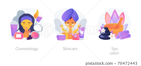 Beauty treatment abstract concept vector illustrations. 70472443