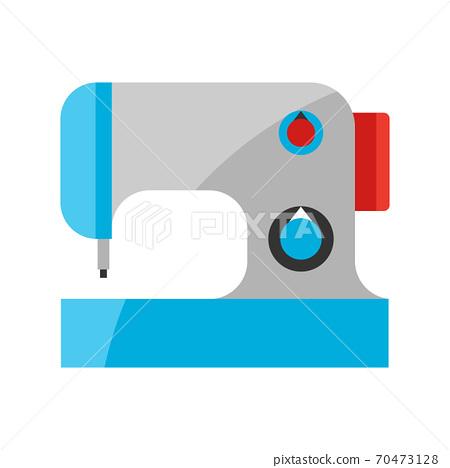 Stylized illustration of sewing machine. 70473128