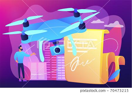 Drone flying regulations concept vector illustration. 70473215