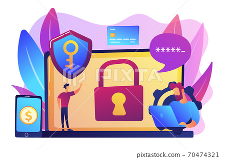 Cyber security software concept vector illustration. 70474321