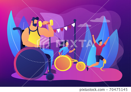 Disabled sports concept vector illustration 70475145