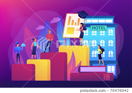Hospitality courses concept vector illustration 70476042