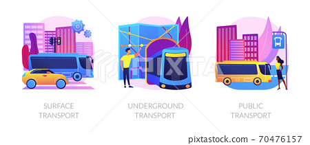 Urban passengers transportation vector concept metaphors. 70476157