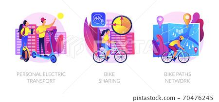 Eco friendly urban transport vector concept metaphors 70476245