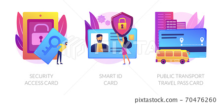 Access and identification cards vector concept metaphors 70476260