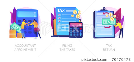 Accountant appointment vector concept metaphors. 70476478
