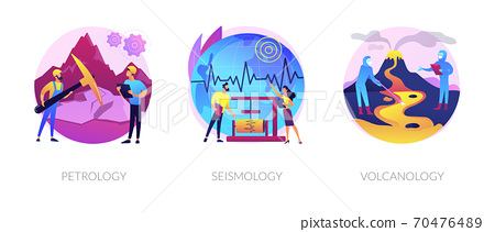 Geology science abstract concept vector illustrations. 70476489