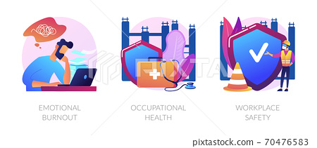 Employee health abstract concept vector illustrations. 70476583