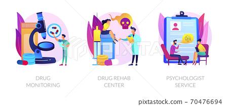 Addiction treatment vector concept metaphors. 70476694